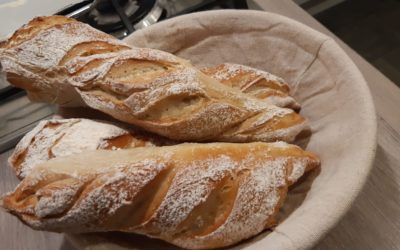 French baguettes recipe by Murielle Mollie